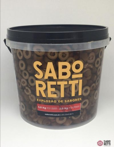 Azeitona Preta Fatiada Saboretti - Balde 2Kg
