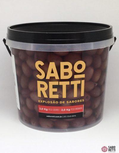 Azeitona Preta s/ Caroço Saboretti - Balde 2Kg