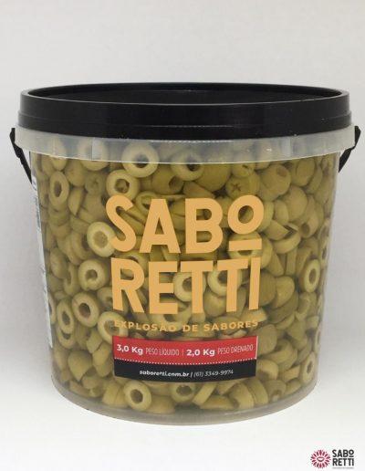 Azeitona Verde Fatiada Saboretti - Balde 2Kg