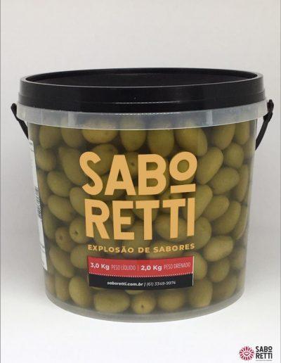 Azeitona Verde Média Saboretti - Balde 2Kg