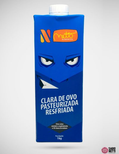 Clara de Ovo Pasteurizada Resfr Netto - T Pak 1kg