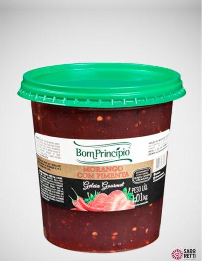 Geléia Morango com Pimenta Bom Princípio - Balde 1,01kg