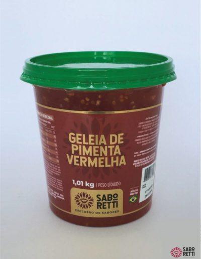 Geléia Pimenta Vermelha Saboretti - Balde 1,01kg