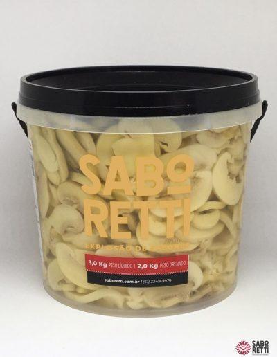 Cogumelo Fatiado Saboretti - Balde 2kg